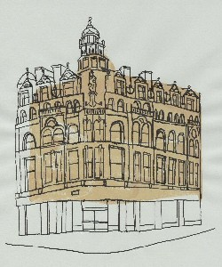 Mary Griffiths sketch of Alliance House