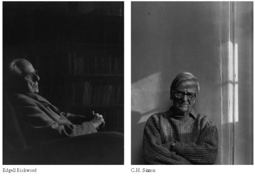 Portraits of Edgell Rickword and C.H. Sisson by Christopher Barker
