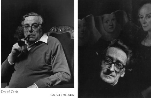 Portraits of Donald Davie and Charles Tomlinson by Christopher Barker