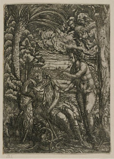 Hans Burgkmair Venus and Mercury etched on paper