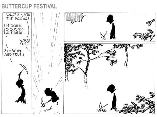 Buttercup Festival cartoon which appeared in PNR223