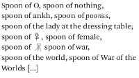 Sharon Olds's Spoon Ode
